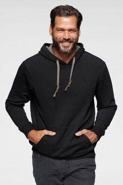 man's world hoodie met contrast-details zwart
