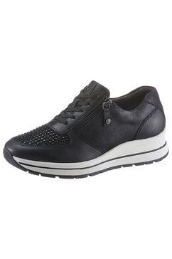 tamaris sneakers met sleehak »purerelax« zwart