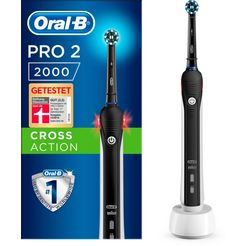 oral b elektrische tandenborstel pro 2 2000, opzetborsteltjes: 1 zwart