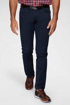 wrangler stretchbroek »authentic straight« blauw