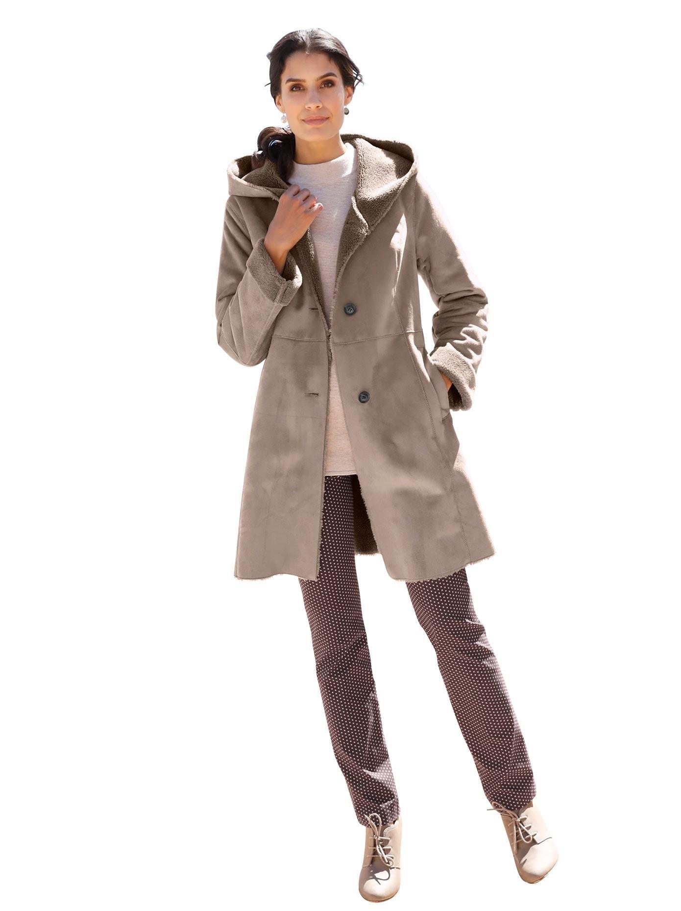 Classic Inspirationen Mainpol jas van warme imitatiesuède nu online kopen bij OTTO