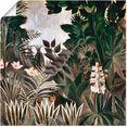artland artprint jungle, 1909 in vele afmetingen  productsoorten - artprint van aluminium - artprint voor buiten, artprint op linnen, poster, muursticker - wandfolie ook geschikt voor de badkamer (1 stuk) groen