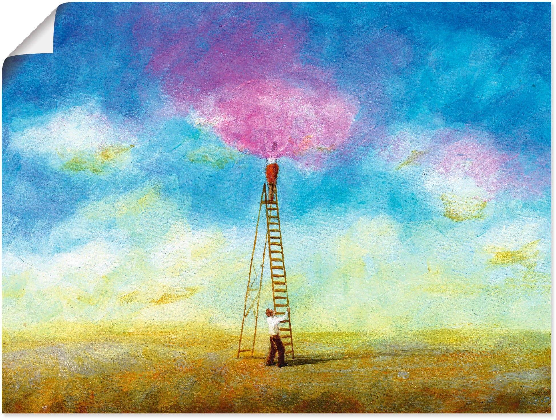 Artland artprint Rozerode wolk 1 in vele afmetingen & productsoorten -artprint op linnen, poster, muursticker / wandfolie ook geschikt voor de badkamer (1 stuk) nu online kopen bij OTTO