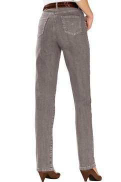 casual looks jeans met stevige band en riemlussen bruin