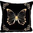 queence kussenovertrek pascal met vlinder (1 stuk) goud