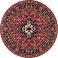 nouristan vloerkleed skazar isfahan korte pool, orint-look, woonkamer zwart