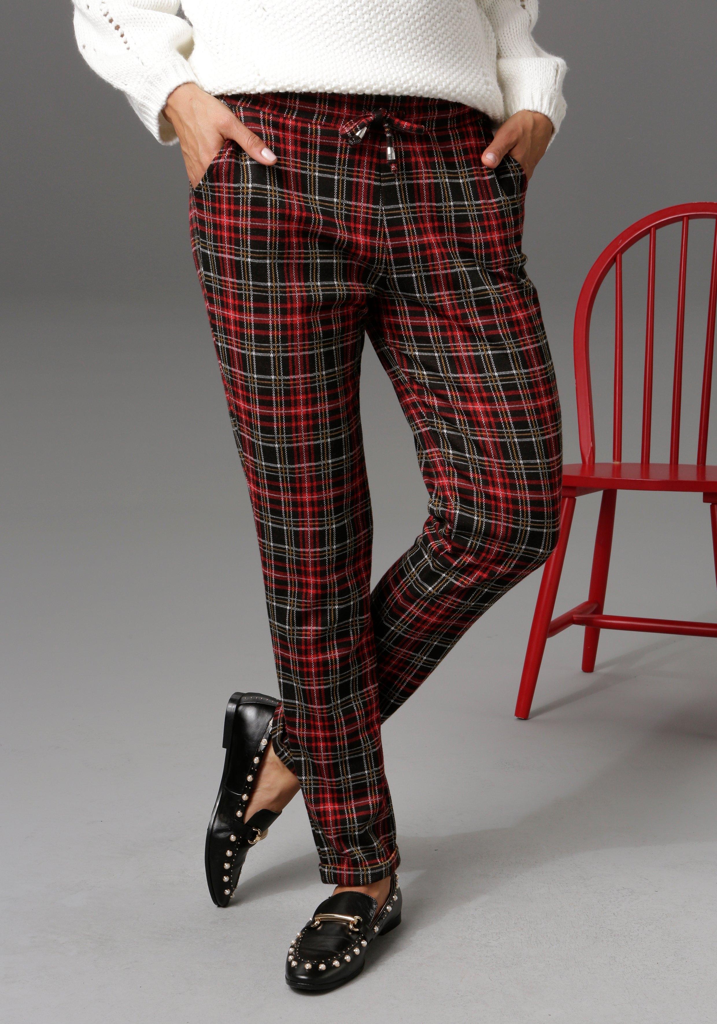 Aniston CASUAL comfortbroek in brit chic ruitdessin - nieuwe collectie nu online bestellen