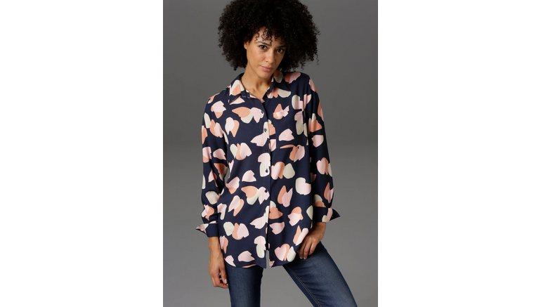 Aniston CASUAL lange blouse met grafische print – nieuwe collectie