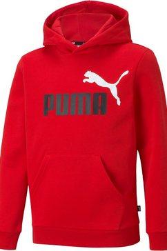 puma hoodie »ess+ 2 col big logo hoodie fl b« rood