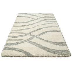hoogpolig vloerkleed, »sandu«, my home, rechthoekig, hoogte 40 mm, machinaal geweven wit