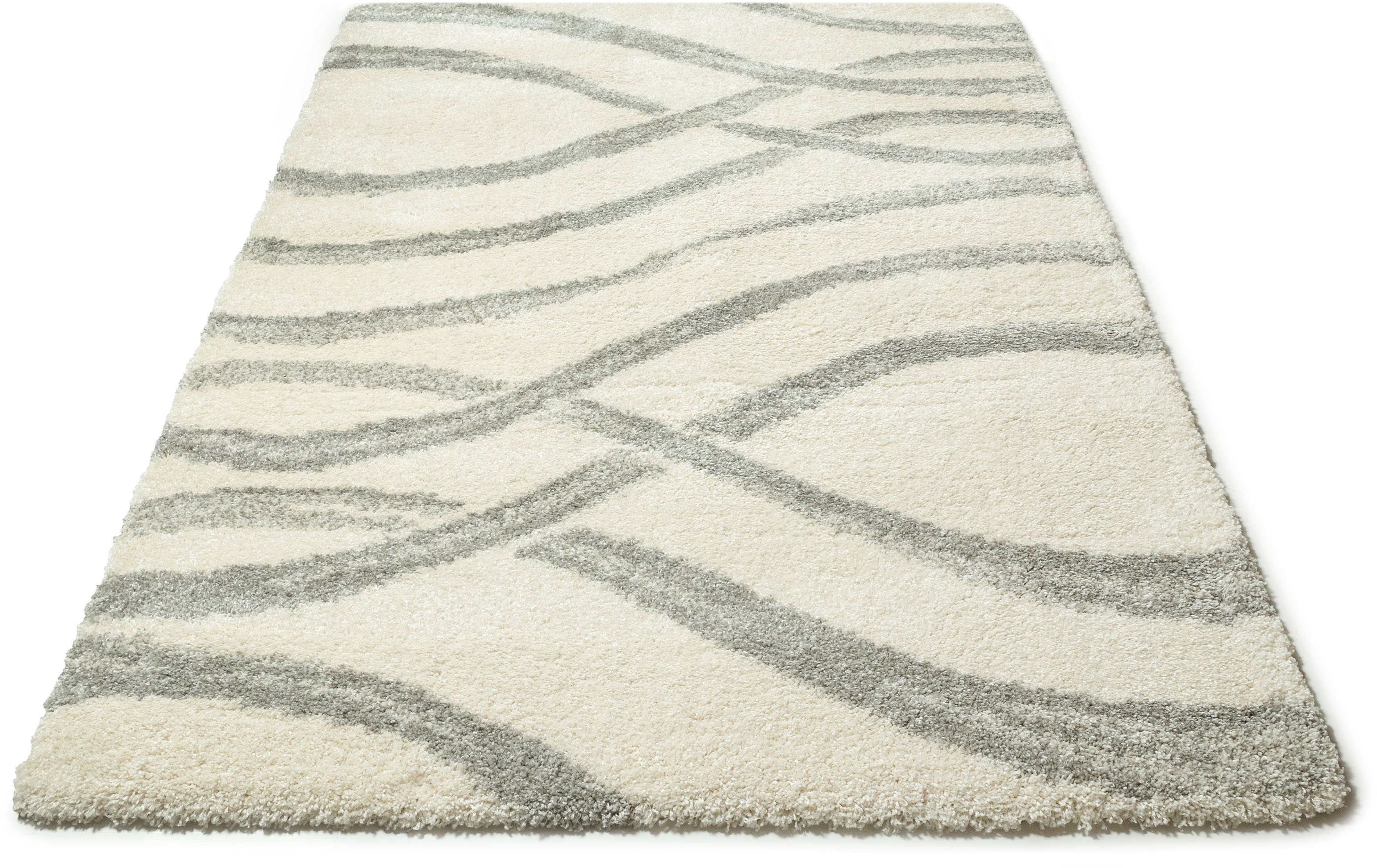 my home Hoogpolig vloerkleed, »Sandu«, rechthoekig, hoogte 40 mm, machinaal geweven in de webshop van OTTO kopen