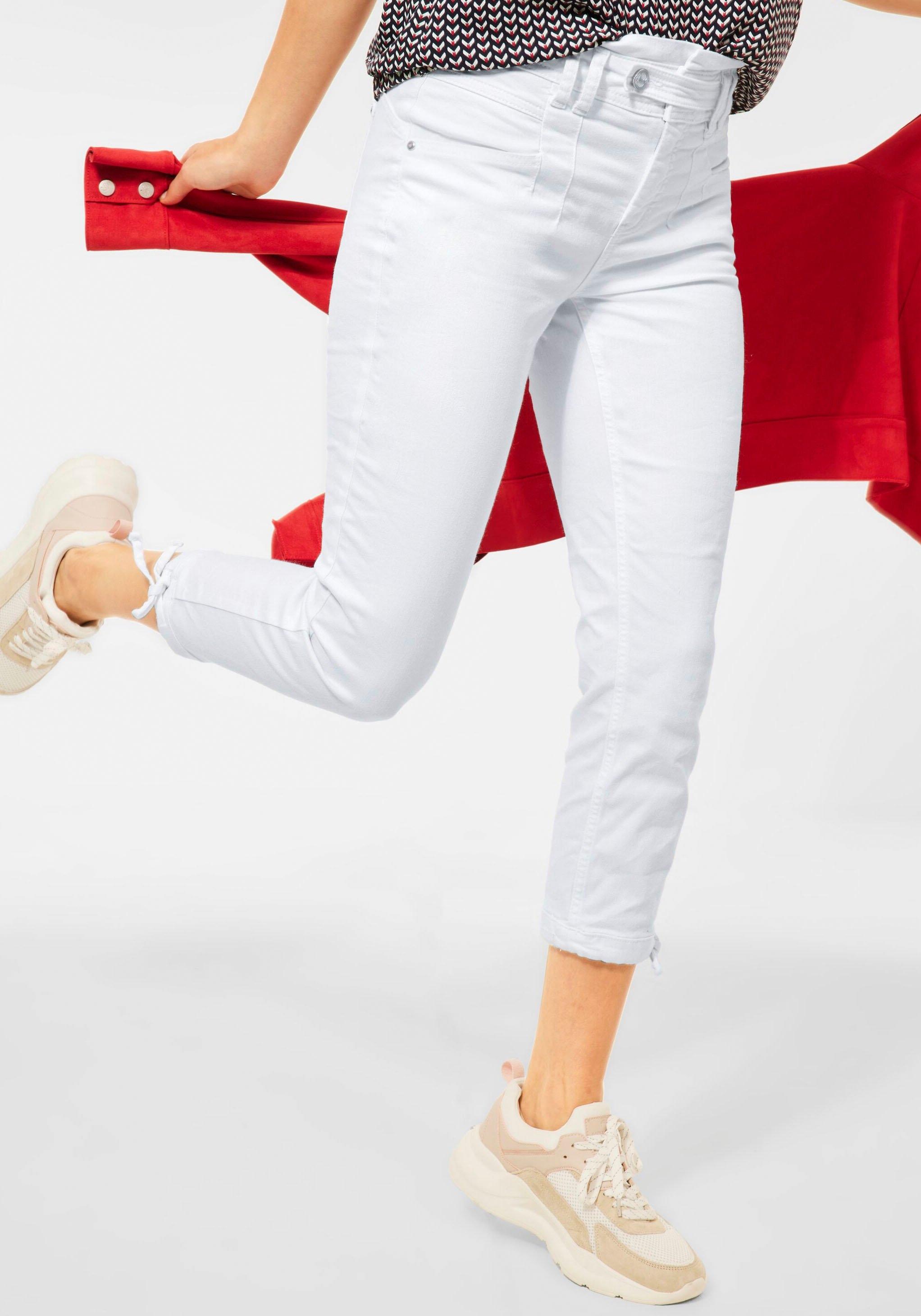 STREET ONE capri jeans Style Bonny met strikbandjes bij de zoom nu online bestellen