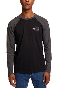 edc by esprit shirt met lange mouwen zwart