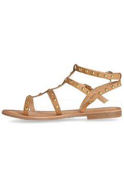 mexx romeinse sandalen gugan met studs bruin