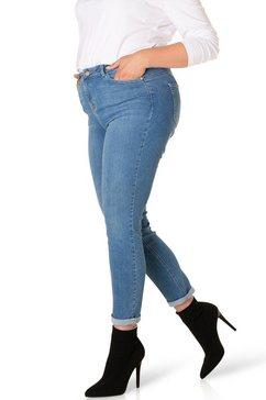 dnim by yesta regular fit jeans quinna in taillemodel en smal blauw