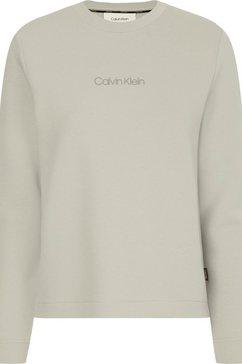 calvin klein sweatshirt mini calvin klein sweatshirt met calvin klein micro logo-opschrift beige