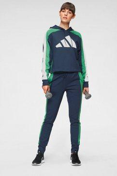 adidas performance trainingspak »w ts big logo« blauw