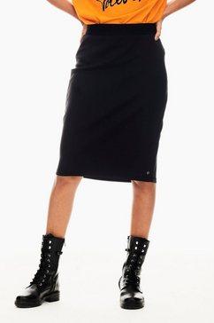 garcia rok in a-lijn met elastische band met geweven motief zwart