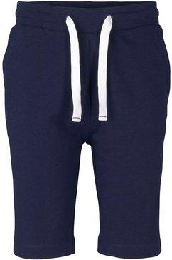 tom tailor sweatshort contrastkleurig koord blauw