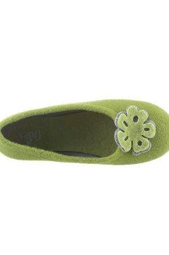 gabor pantoffels in ballerinamodel groen