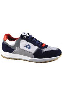 la martina sneakers made in italy in maritieme kleurencombinatie grijs
