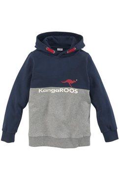 kangaroos hoodie tweekleurig met logoprint blauw