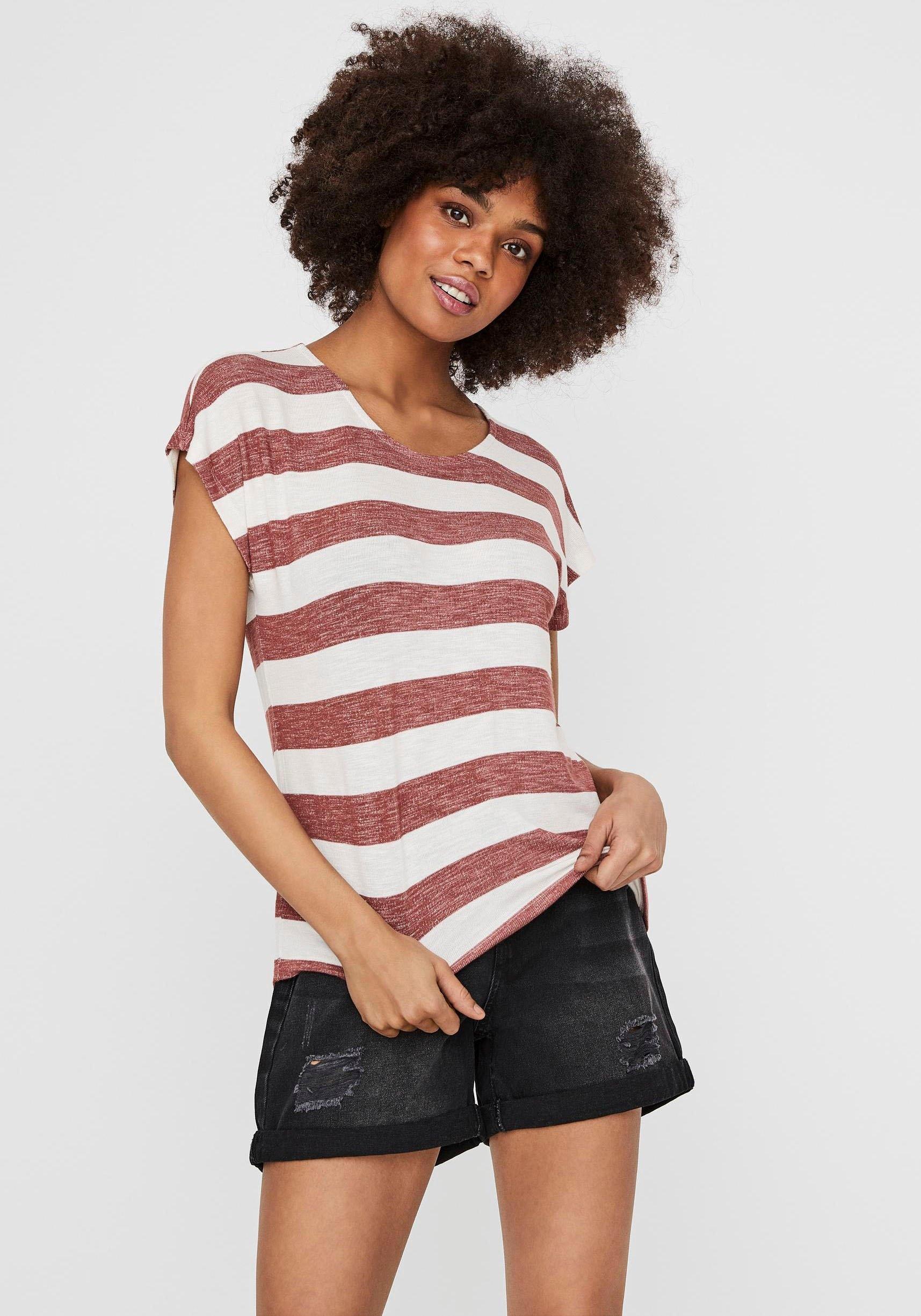 Vero Moda shirt met ronde hals VMWIDE met blokstreepdessin veilig op otto.nl kopen