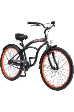 bikestar tienerfiets 1 versnelling zwart