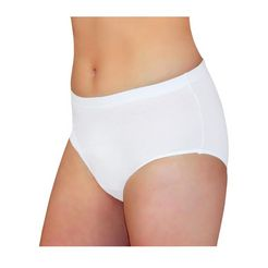 incontinentieslip met ingewerkt absorberend verband wit