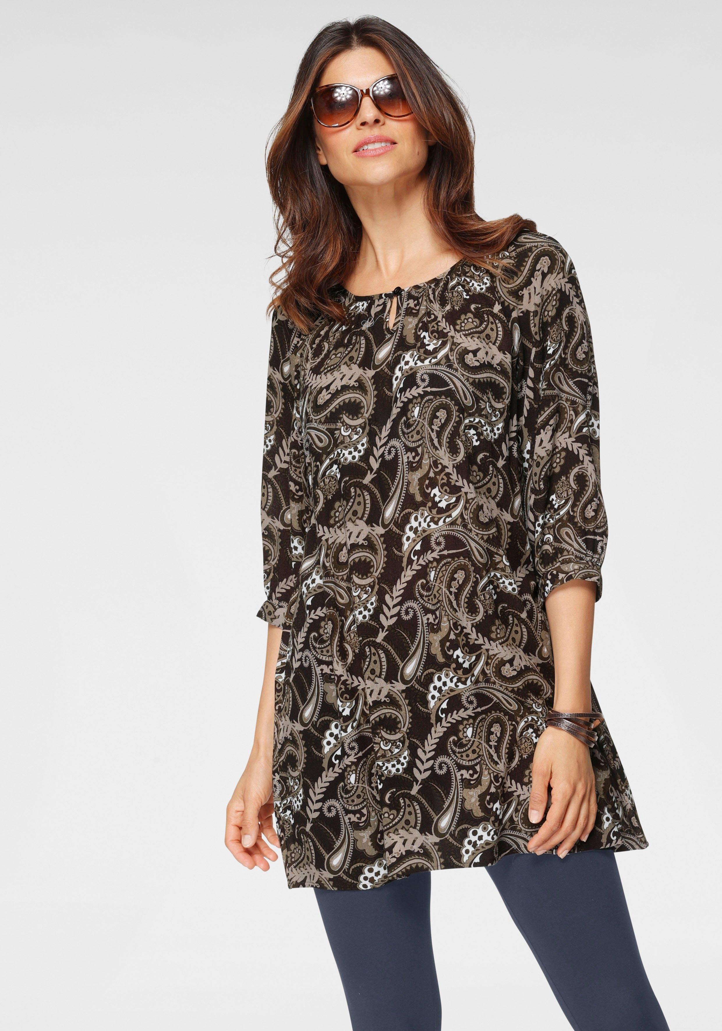 Op zoek naar een Boysen's lange blouse in lichte krinkel-look? Koop online bij OTTO