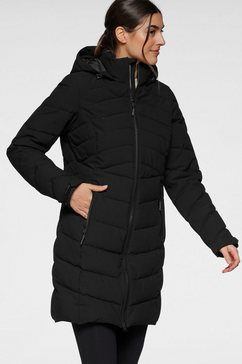 killtec doorgestikte jas zwart