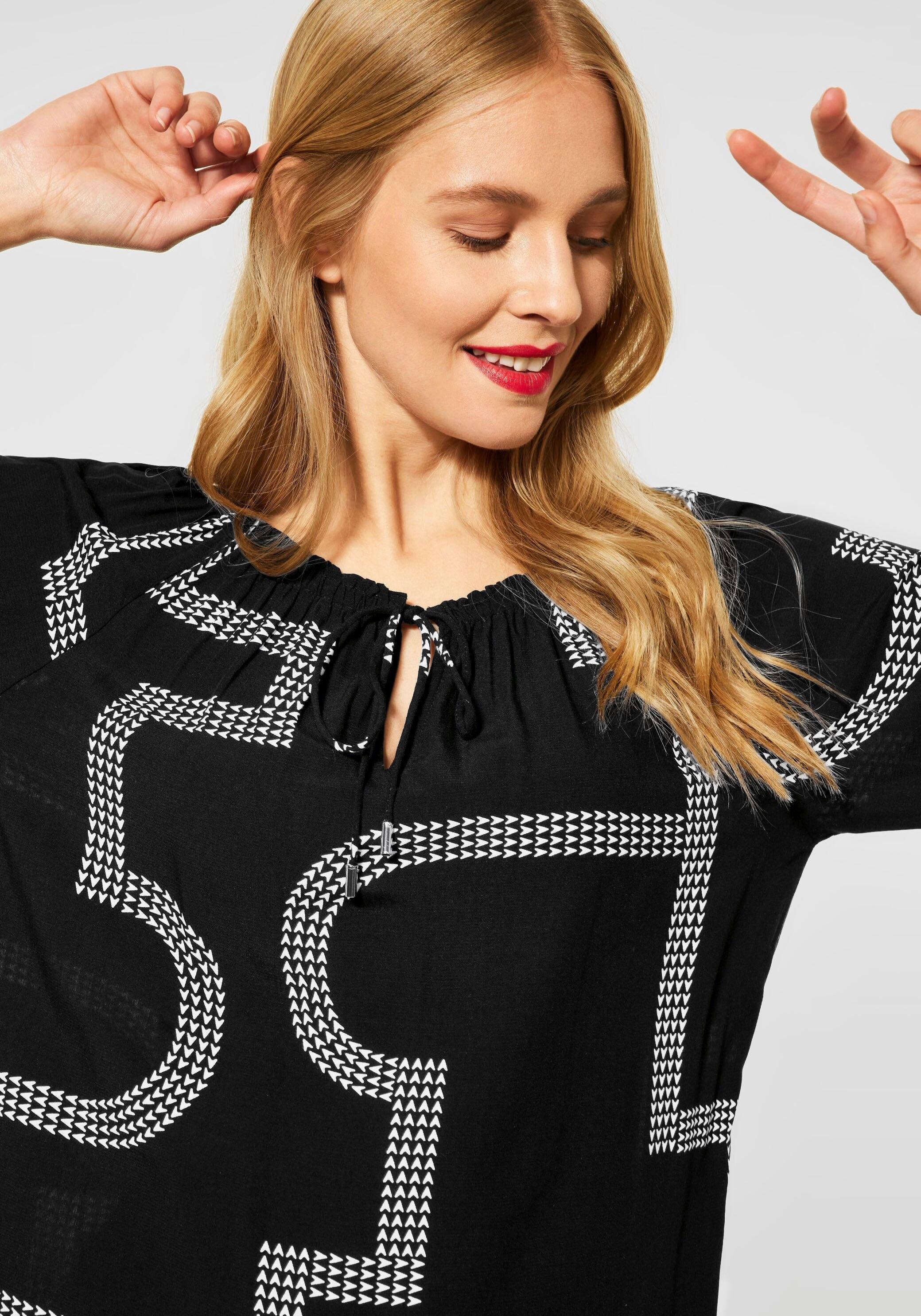 STREET ONE blouse met carmenhals met print all-over en 3/4-mouwen bestellen: 30 dagen bedenktijd