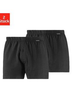 schiesser wijde boxershort van single-jersey (2 stuks) zwart