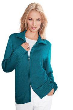 casual looks vest in comfortabele materialenmix blauw