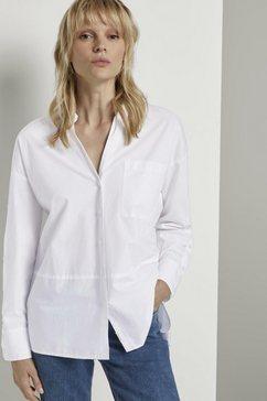 tom tailor mine to five overhemdblouse met knoopdetail aan de mouwen wit