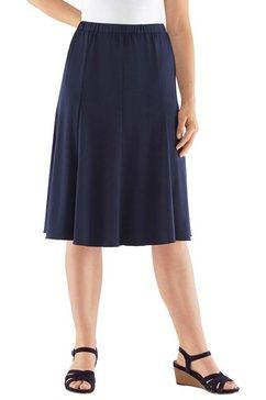 jersey-comfortrok in zwierige wijd model blauw