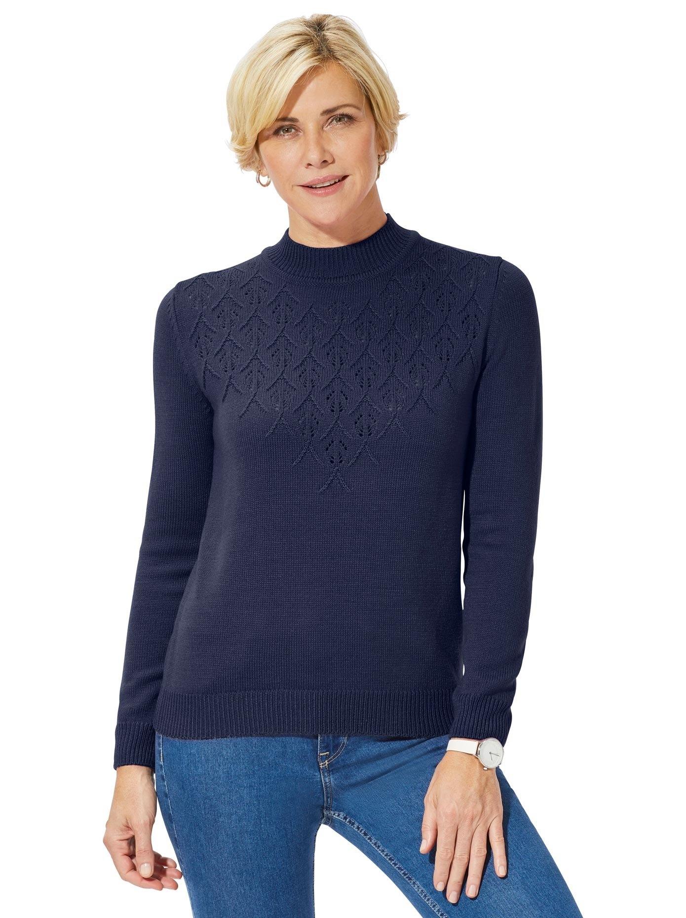 Classic Basics trui met staande kraag - verschillende betaalmethodes