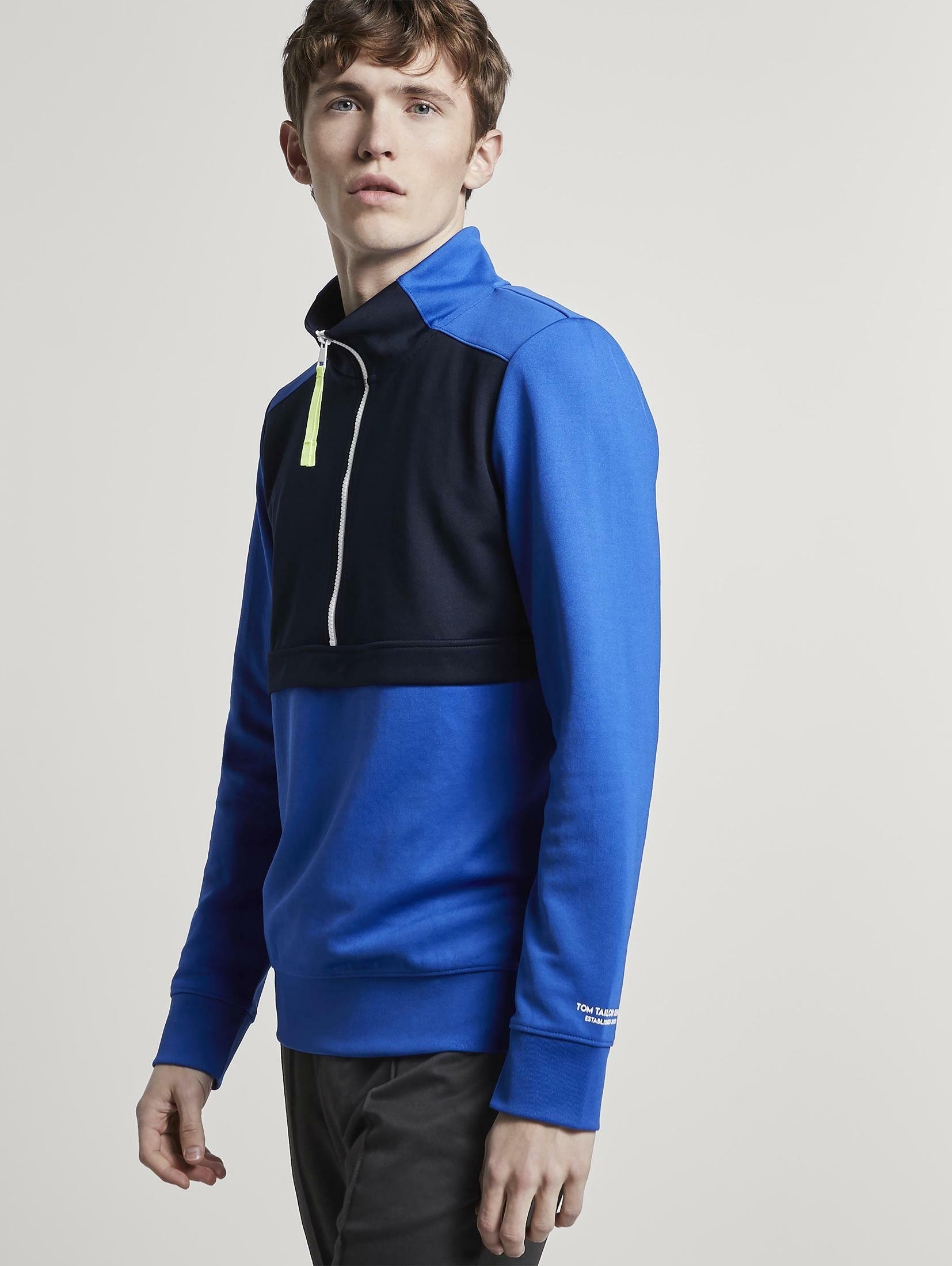 TOM TAILOR Denim sweatvest »Half-Zip Sweatshirt« nu online kopen bij OTTO
