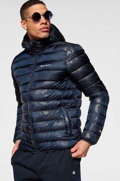 champion gewatteerde jas »hooded jacket« blauw