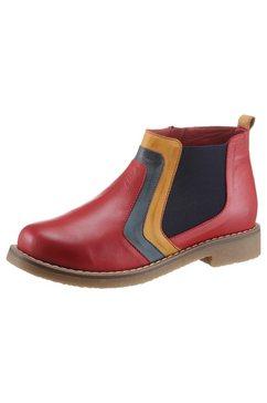gemini chelsea-boots dixie in schoenwijdte g (=wijd) rood