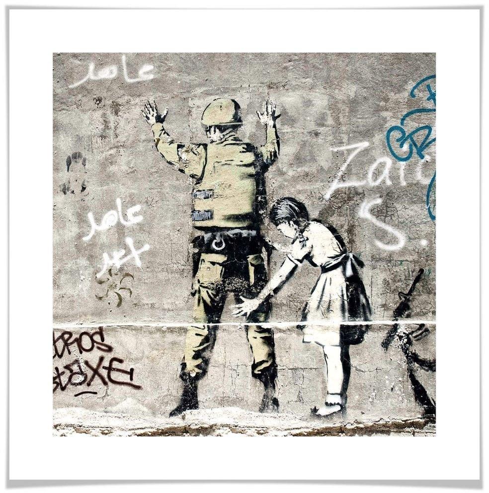 Op zoek naar een Wall-Art poster Graffiti afbeelding Meisje en soldaat Poster, artprint, wandposter (1 stuk)? Koop online bij OTTO