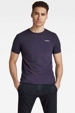 g-star raw shirt met ronde hals »slim base r t-shirt« blauw