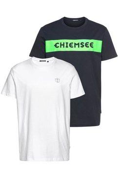 chiemsee t-shirt (set, 2-delig, set van 2) blauw