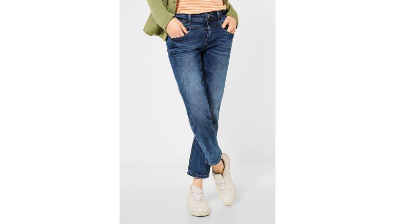 STREET ONE slim fit jeans 4-pocketsstijl