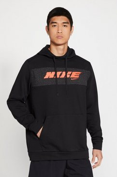 nike trainingstrui nike dri-fit men's pullover training hoodie zwart