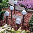 think@pets tuinlamp balls set, set van 5 zwart