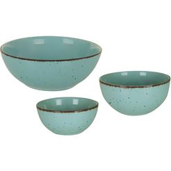 arte viva kom puro ø 11, 14, en 21 cm, aanbevolen door de topkok thomas wohlfarter (set, 3-delig) blauw