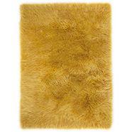 vachtvloerkleed, »ovium«, andiamo, rechthoekig, hoogte 60 mm, machinaal geweven geel