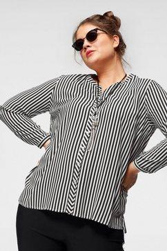 frapp gedessineerde blouse zwart