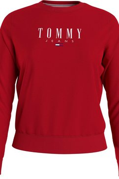 tommy jeans sweatshirt »tjw regular essential logo« rood
